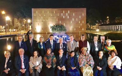 Centro de Memoria Paz y Reconciliacion in Bogota about the 16th World Summit of Nobel Peace Laureates