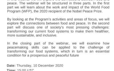 WEBINAR 3: FOOD AND PEACE