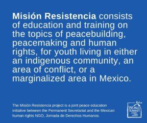 LAUNCH OF MISIÓN RESISTENCIA PEACE EDUCATION PROJECT