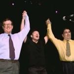 David Trimble & John Hume at a U2 Concert with Bono