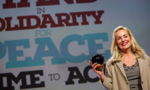 2013 peace awards Sharon Stone